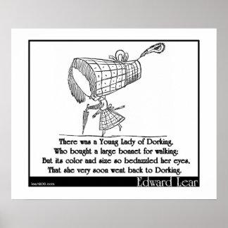 Había una señora joven de Dorking Posters