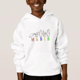 HABIB FINGERSPELLED ASL NAME SIGN HOODIE