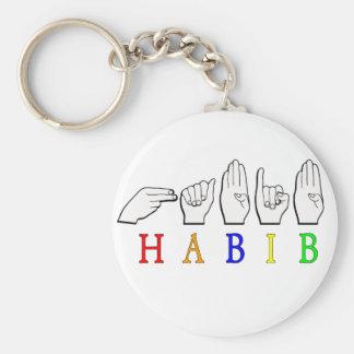 HABIB FINGERSPELLED ASL NAME SIGN KEYCHAIN