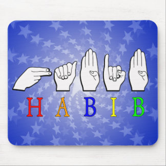 HABIB FINGERSPELLED ASL NAME SIGN MOUSE PAD