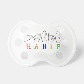 HABIB FINGERSPELLED ASL NAME SIGN PACIFIER