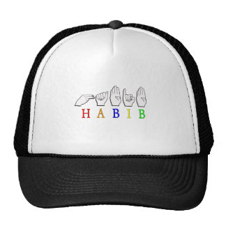 HABIB FINGERSPELLED ASL NAME SIGN TRUCKER HAT