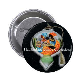 Habibatique Ethnic Collections... 2 Inch Round Button