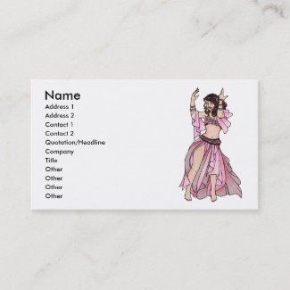 Habibi Belly Dancer Business Cards