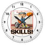 Habilidades 4 reloj de pared