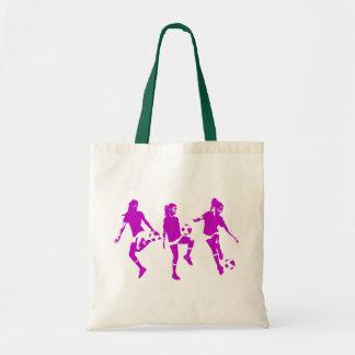Habilidades femeninas de color de malva del fútbol bolsa tela barata
