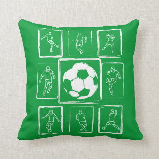 Habilidades pintadas del fútbol de motivación cojín
