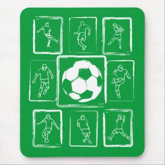 Habilidades pintadas del fútbol de motivación tapete de raton