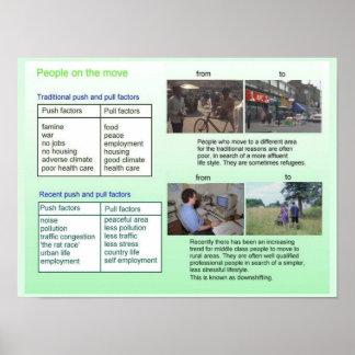 Habilidades sociales, ciudadanía, gente en el póster