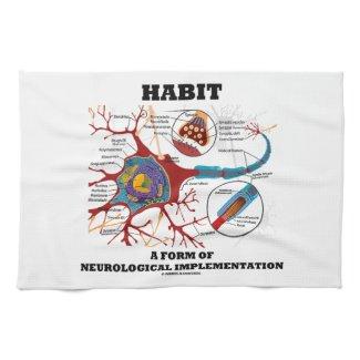 Habit A Form Of Neurological Implementation Neuron Hand Towels