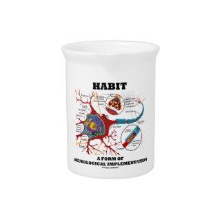 Habit A Form Of Neurological Implementation Neuron Beverage Pitchers