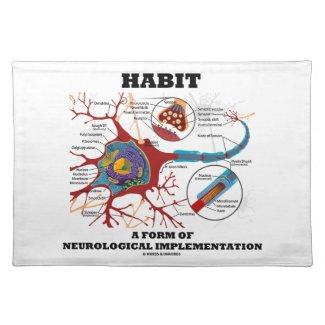Habit A Form Of Neurological Implementation Neuron Place Mats