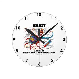 Habit A Form Of Neurological Implementation Neuron Round Clock