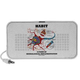 Habit A Form Of Neurological Implementation Neuron Laptop Speakers
