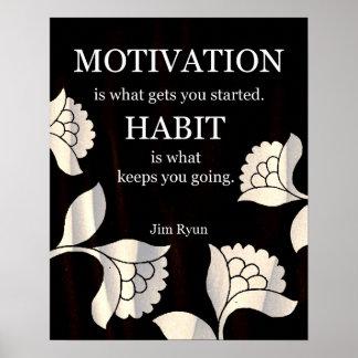 Habit-Motivational Art Print
