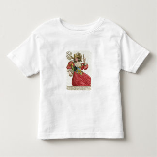Habit of a wealthy lady about 1630 (coloured engra toddler t-shirt