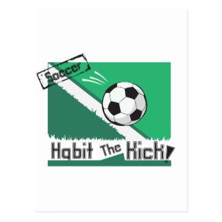 Habit the kick postcard