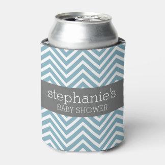 Habitación azul y gris en colores pastel de la enfriador de latas