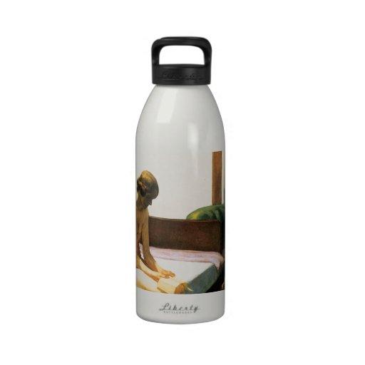 Habitación de Edward Hopper Botella De Agua Reutilizable