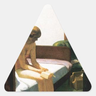Habitación de Edward Hopper Pegatinas Triangulo Personalizadas