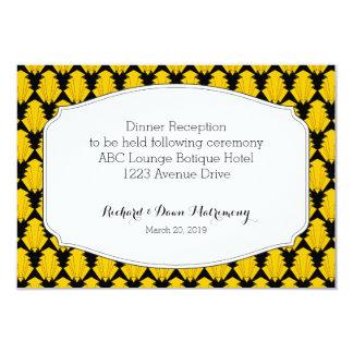 """Habitación del boda de la tarjeta de la recepción invitación 3.5"""" x 5"""""""