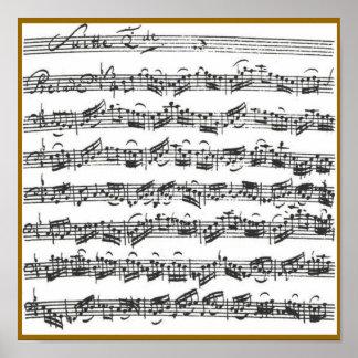 Habitación del violoncelo de Bach Póster
