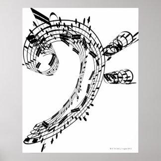 Habitación del violoncelo de J.S.Bach Poster