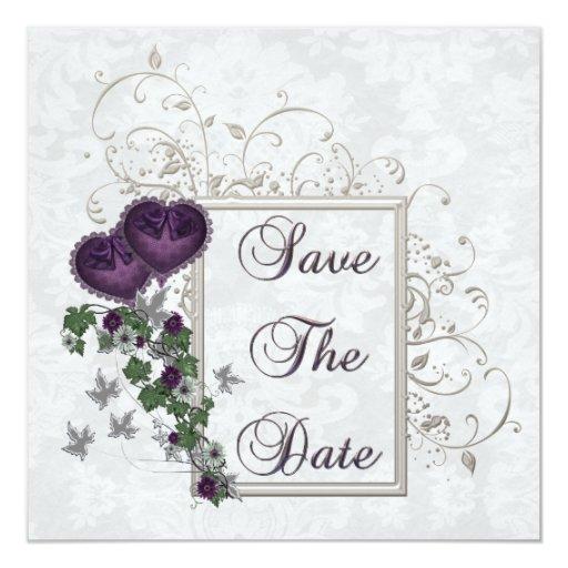 """Habitación elegante del boda de la hiedra invitación 5.25"""" x 5.25"""""""