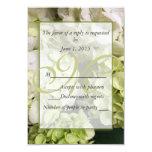 """Habitación verde blanca del boda del Hydrangea Invitación 3.5"""" X 5"""""""