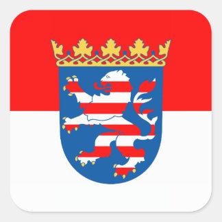 Habitante de hesse bandera pegatina cuadrada