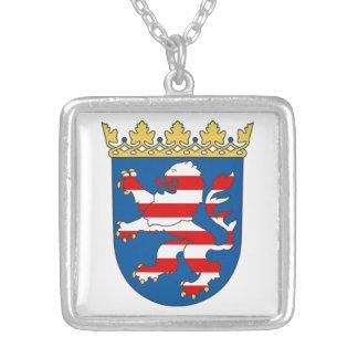 Habitante de hesse escudo de armas colgante cuadrado