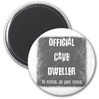 Habitantes de cueva oficiales imán redondo 5 cm