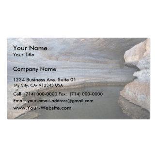 Hábitat de la cueva tarjeta de visita