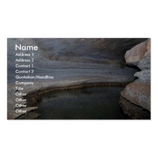 Hábitat de la cueva plantillas de tarjetas de visita