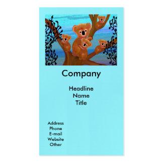 Hábitat de la koala plantillas de tarjetas de visita