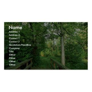 Hábitat del bosque del refugio plantillas de tarjetas personales