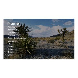 Hábitat del desierto del refugio tarjeta de visita