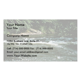 Hábitat del río tarjeta de visita