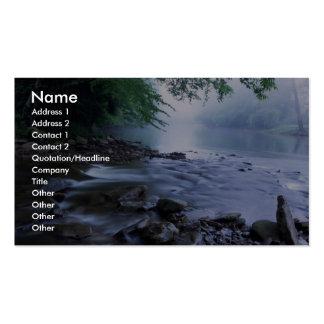 Hábitat del río tarjetas de negocios