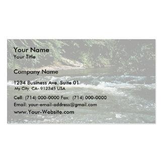 Hábitat del río tarjetas de visita