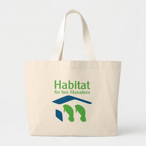 Habitat for Two Manatees Tote Bag