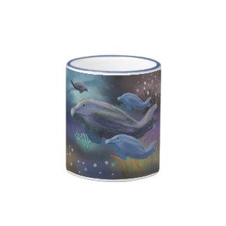Hábitat marino taza de dos colores