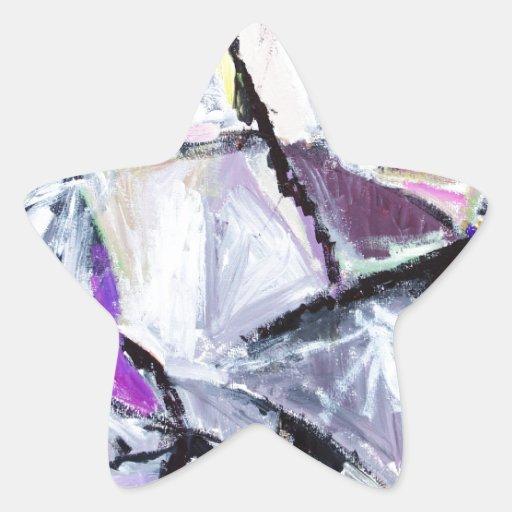 Hábitat púrpura de los gatos monteses nativos pegatina en forma de estrella