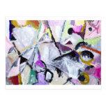 Hábitat púrpura de los gatos monteses nativos (pin postal