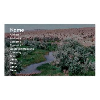 Hábitat ripícola tarjeta de visita