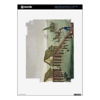 Habitations of the Papu Tribe, Rawak, plate 22 fro iPad 3 Decal