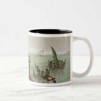 Habitations of the Papu Tribe, Rawak, plate 22 fro Coffee Mug