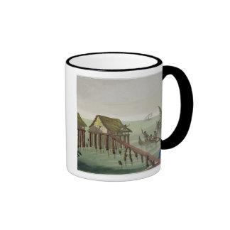Habitations of the Papu Tribe, Rawak, plate 22 fro Coffee Mugs