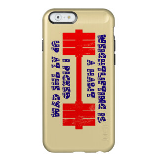 Hábito americano del levantamiento de pesas funda para iPhone 6 plus incipio feather shine