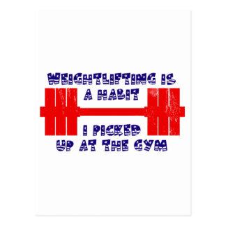 Hábito americano del levantamiento de pesas postales